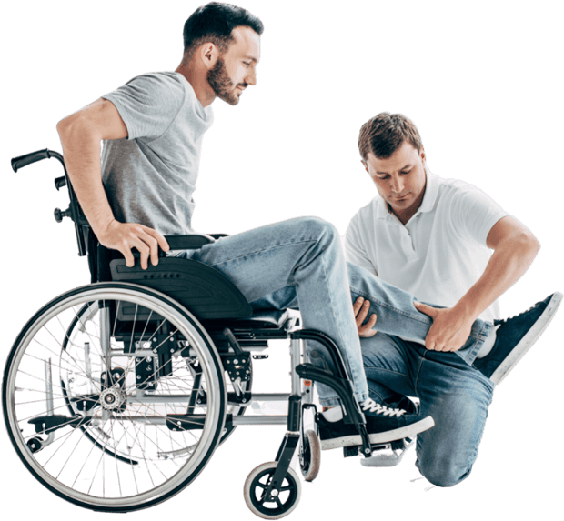 helping paralyzed patient